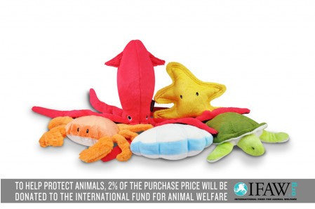 P.L.A.Y. Under The Sea Plush Dog Toy 5-Piece Gift Set