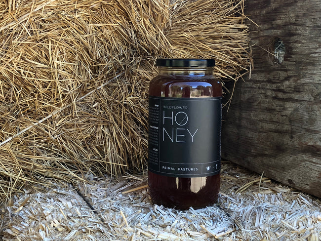 Raw, Local, Unfiltered Wildflower Honey