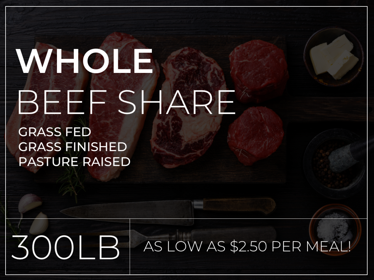Whole Beef Share (Deposit Only)