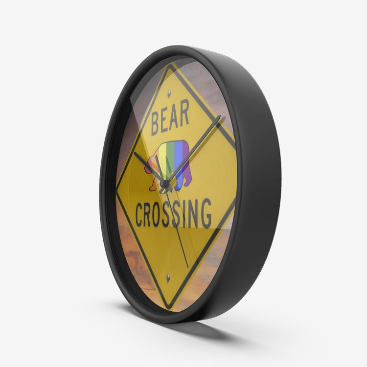Bear Crossing - Wall Clock Silent Non Ticking Quality Quartz