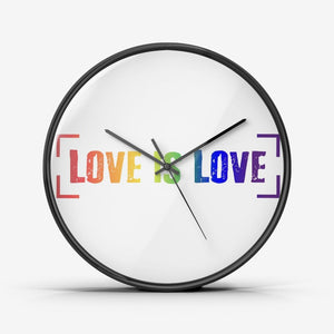 Love is Love - Wall Clock Silent Non Ticking Quality Quartz