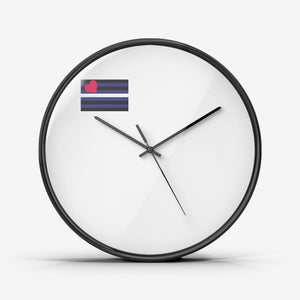 Leather Pride Wall Clock Silent Non Ticking Quality Quartz