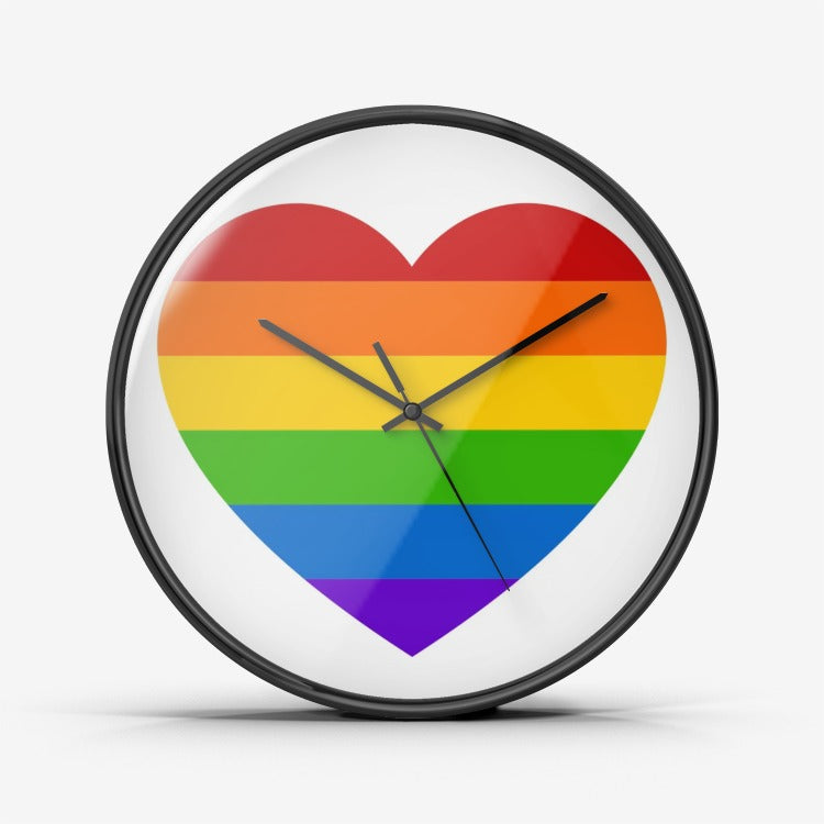 Heartful Pride - Wall Clock Silent Non Ticking Quality Quartz