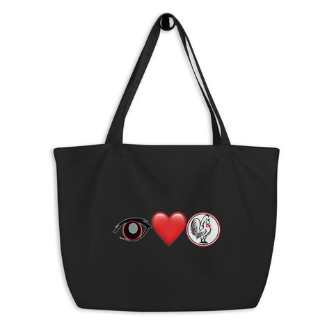 Large organic tote bag Eye love