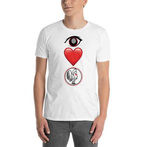 Short-Sleeve Unisex T-Shirt Eye Love