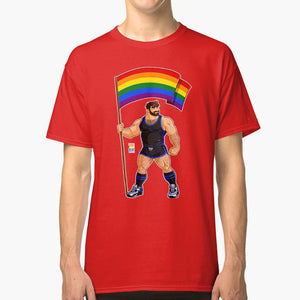 Muscle Bear Pride Flag T Shirt