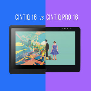Cintiq 16 (DTK1660) and Cintiq Pro 16 (DTH1620) Spec Comparison