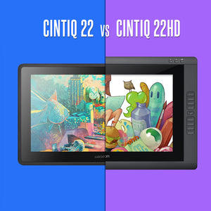 Cintiq 22HD (DTK2200) and Cintiq 22 (DTK2260K0A) Spec Comparison