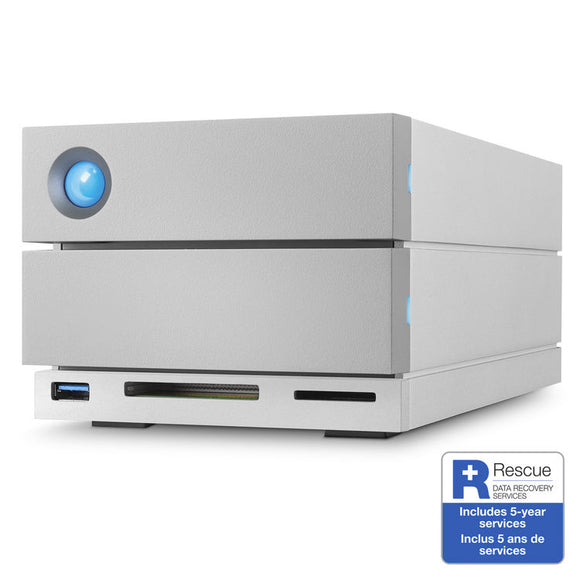 LaCie 2big Dock Thunderbolt 3 RAID Array 8TB STGB8000400 - [machollywood]