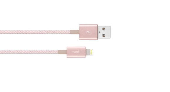 Moshi Braided Lightning to USB-A Charge/Sync Cable 99MO023253 Golden Rose