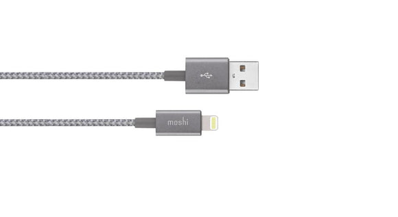 Moshi Braided Lightning to USB-A Charge/Sync Cable 99MO023044 Titanium Gray - [machollywood]
