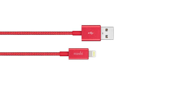 Moshi Braided Lightning to USB-A Charge/Sync Cable 99MO023321 Crimson Red