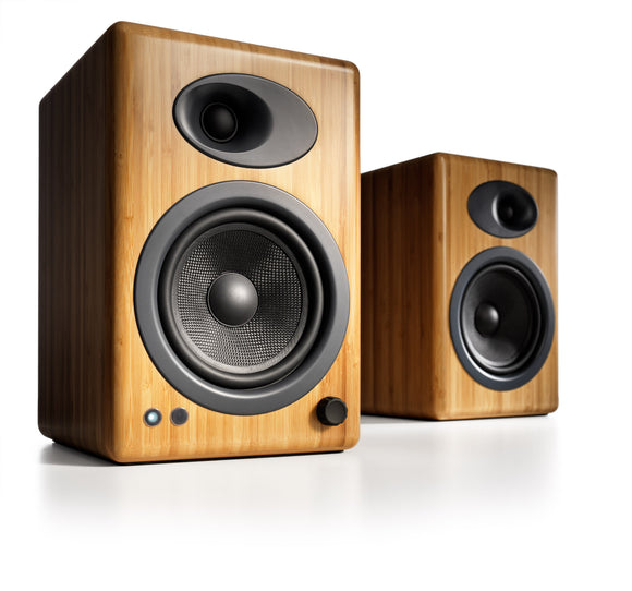 AudioEngine A5+ Powered Speakers Bamboo - [machollywood]