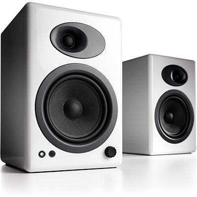 AudioEngine A5+ Powered Speakers White