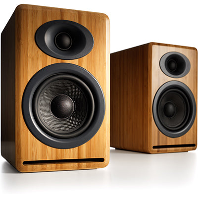 AudioEngine P4 Passive Speakers Bamboo - [machollywood]