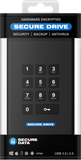 SecureDrive® KP 1TB HDD Hardware Encrypted External Hard Drive - Unlock via On-Board Keypad SD-KP-12-BL1000GB