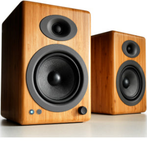 AudioEngine A5+ Wireless Powered Speakers Bamboo