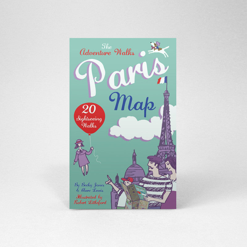 Paris Adventure Walks Map