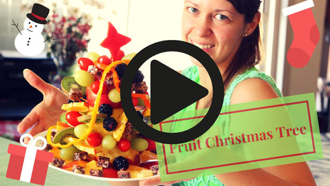 Good Cravings raw fruit Christmas tree