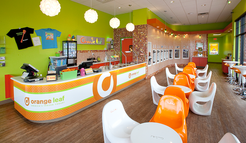 Good Cravings bars at Orange Leaf frozen yogurt