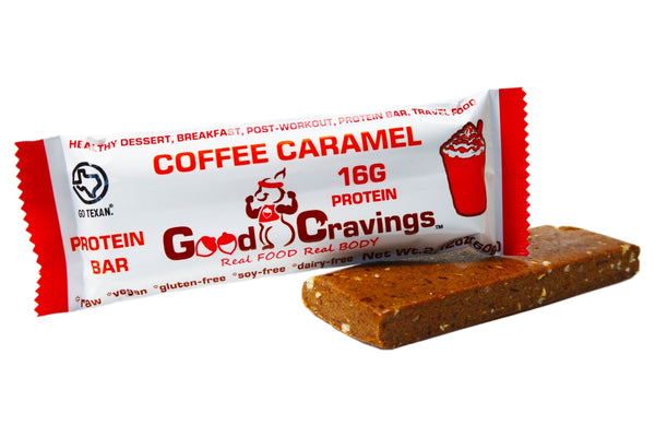 Coffee Caramel Raw Vegan Protein Bar