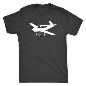 Men's Triblend Pilot Home Graphic Tee Bonanza - Flash Aviation