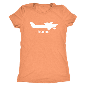 Women's Triblend Pilot Home T-Shirt Cessna - Flash Aviation