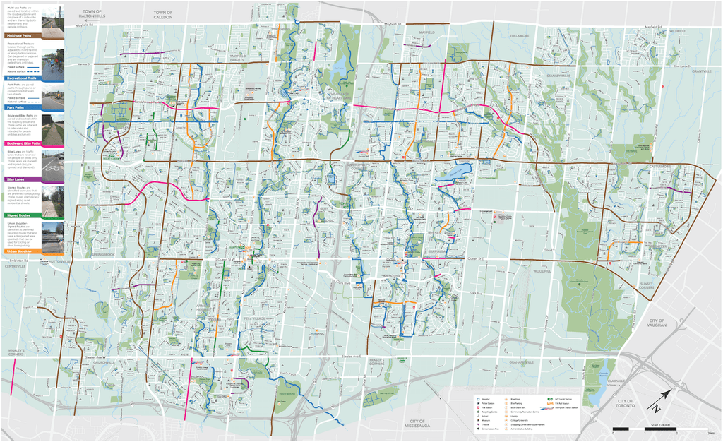 2018 Brampton Cycling Map