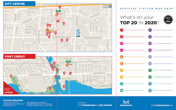 2020 Mississauga visitor guide layout page 2