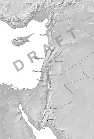 Draft 1 map of Levant