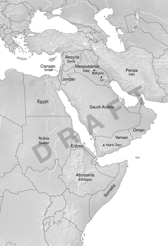 Draft 1 map of Middle East and Africa