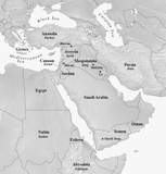Map of Middle East for Redefining Job book