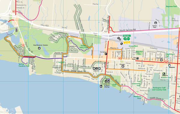 LTS data on Burlington cycling map draft
