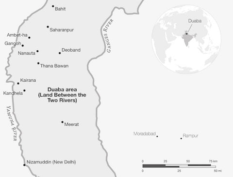 Map of Duaba India