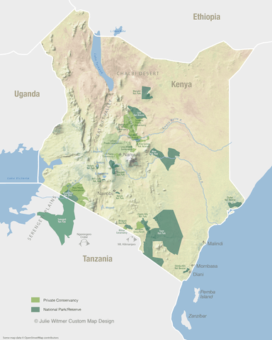 map of parks in Kenya