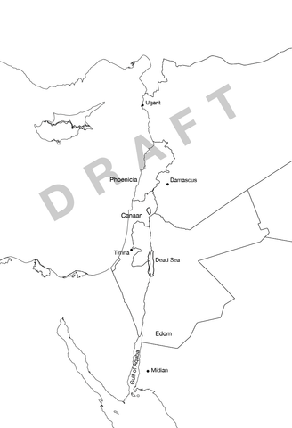 Layout draft of Levant map