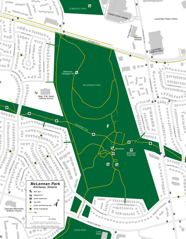 McLennan Park facilities map