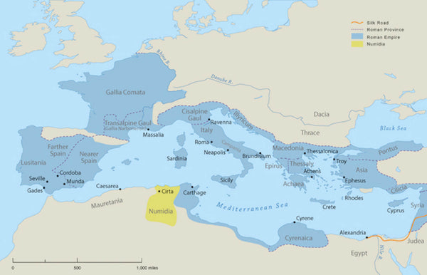 Map of Roman Empire in Europe