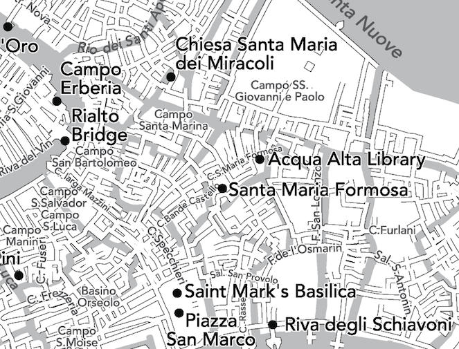Walking map of Venice Italy
