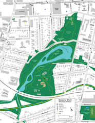 Victoria Park, Kitchener - facilities map