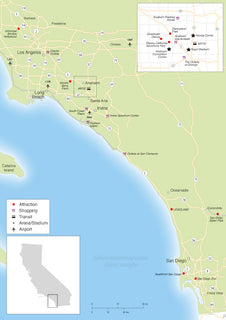 Overview map of Southern California