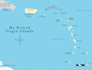 Locator map of British Virgin Islands