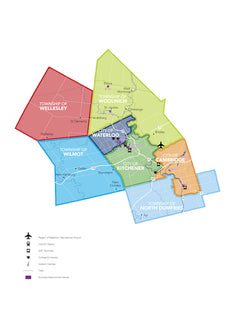Waterloo Region cities and townships map