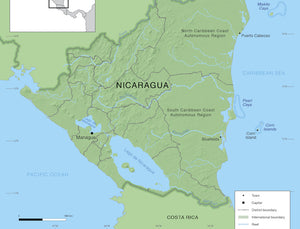 Map of Nicaragua fishing areas