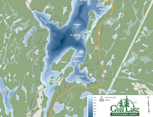 Map of Gull Lake Haliburton