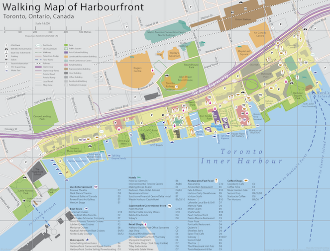 Walking map of Harbourfront