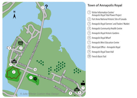 map of Annapolis Royal sights