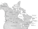 Map of Canada for upcoming history book by Sebastian Wright