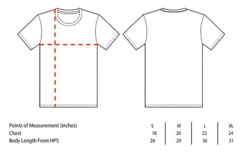 classic tee Bella Canvas 3001 size chart