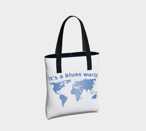 """It's a Blues World"" Tote Bag"
